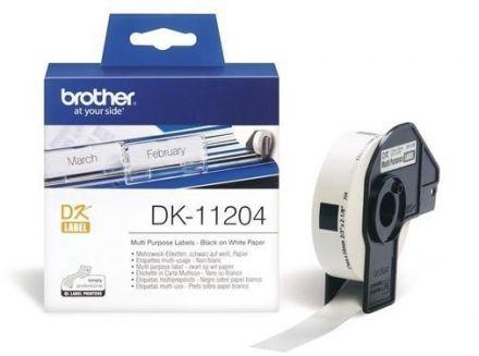 Етикети Brother DK-11204, 17mm x 54mm (съвместими), със стойка