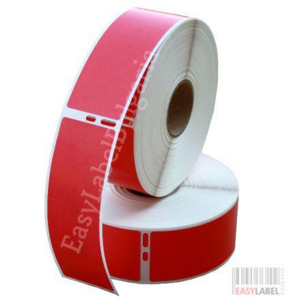 Съвместими 99012 Dymo етикети, 36mm x 89mm, червени