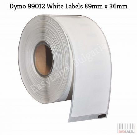 Eтикети Dymo 99012, 36mm x 89mm, бели, Removable