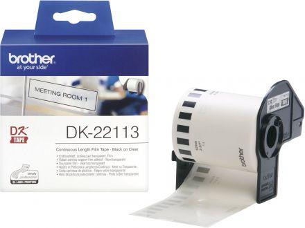 Прозрачна непрекъсната лента Brother DK-22113, 62mm x 15.24m