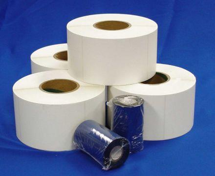 САМОЗАЛЕПВАЩИ ЕТИКЕТИ НА РОЛКА, 30mm X 20mm, комплект, бели