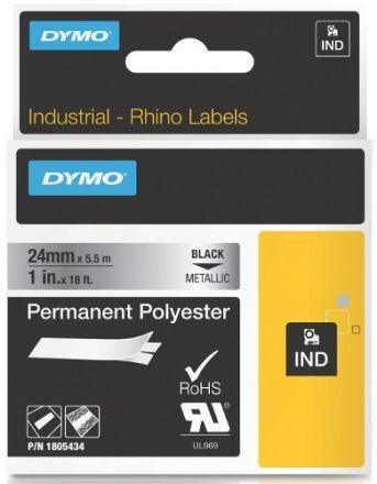 Dymo 1805434 Rhino - Траен полиестер 24mm x 5,5m, сребро(металик)