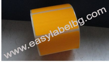 Самозалепващи етикети на ролка, сигнален цвят, оранжев, 100mm X 70mm