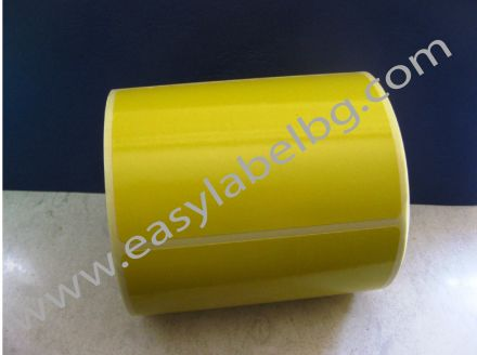 SELF-ADHESIVE LABEL ROLL, pastel colour: yellow, 100mm x 70mm