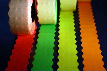 Етикети за маркиращи клещи, едноредови, цветни, 26mm х 12mm  (кутия)