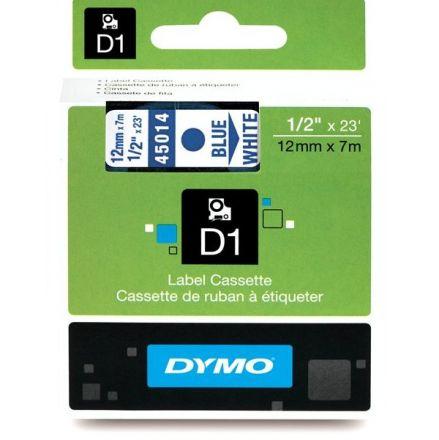 ЛЕНТА D1 - Dymo 45014, 12mm X 7m, бяла, син надпис