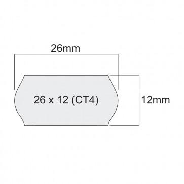 ЕТИКЕТИ ЗА МАРКИРАЩИ КЛЕЩИ, бели, 26mm X 12mm