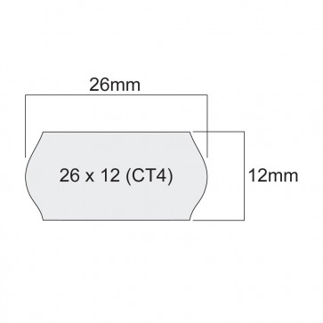 Етикети за маркиращи клещи, едноредови, бели, 26mm X 12mm (кутия)