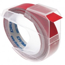 EMBOSSING LABEL TAPE Dymo, 9mm X 3m, Red