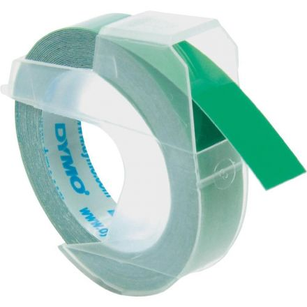 EMBOSSING LABEL TAPE Dymo, 9mm X 3m, Green