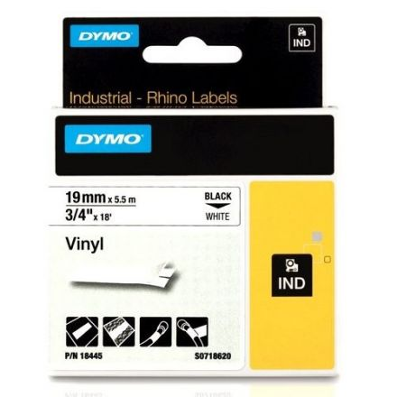 Dymo RhinoPRO 18444 -12mm X 5,5m Бял Винил