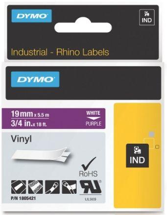 Dymo RhinoPRO 1805421 - 19mm X 5,5m Лилав Винил/Бял Надпис