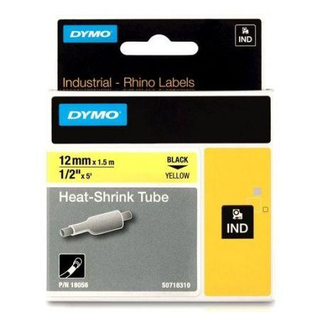 Dymo RhinoPRO 18056 - 12mm X 1,5m  Tермосвиваеми, жълти