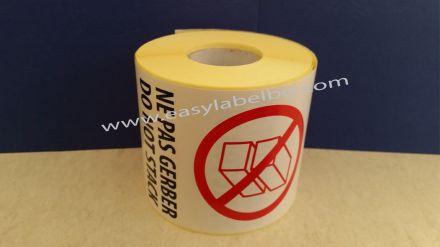 Логистичен етикет - NE PAS GERBER, DO NOT STACK, 92mm X 132mm, 100бр.
