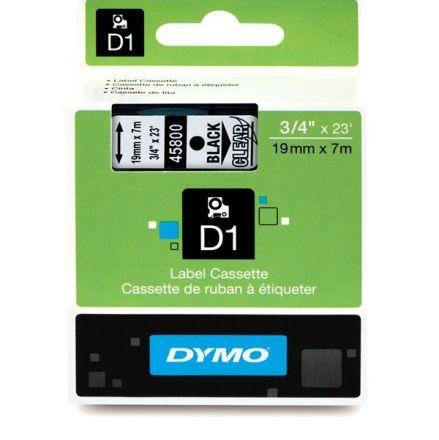 ЛЕНТА D1 - Dymo 45800, 19mm X 7m, прозрачна, черен надпис