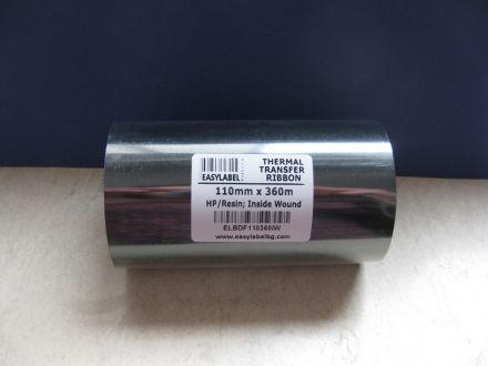 Термотрансферна лента, резин, Premium RESIN, Черна, 110mm X 300m