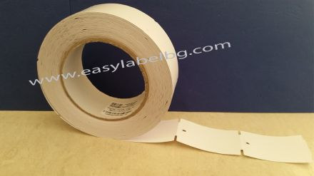 Eтикети за дрехи от картон, бели 38mm х 61mm, 80g/m2