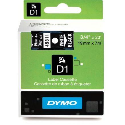 ЛЕНТА D1 за Dymo Label Manager, 19mm X 7m, черна, бял надпис