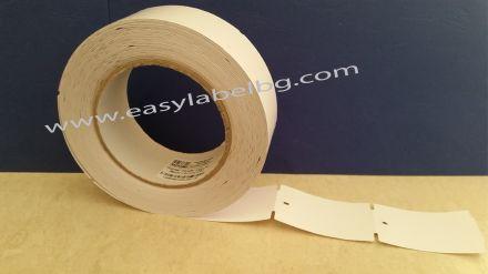 Eтикети за дрехи от картон, бели 38mm X 61mm, 130g/m2