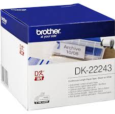 Консуматив Brother DK-22243 White Continuous Length Paper Tape 102mm x 30.48m, Black on White