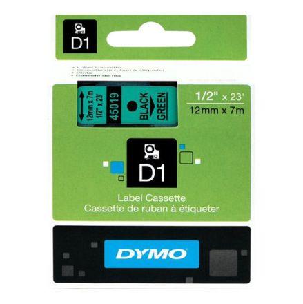 ЛЕНТА D1 - Dymo 45019, 12mm X 7m, зелена, черен надпис