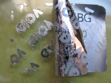 Напечатан защитен гарaнционен етикет, стикер - тип VOID, 44mm X 32mm, matt silver, сребрист