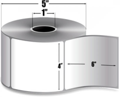 "4"" X 6""(101.6mm X 152.4mm) Термодиректен етикет, Thermal Eco"