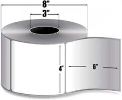 "4"" X 6""(101.6mm X 152.4mm) Термотрансферни етикети, полугланц"