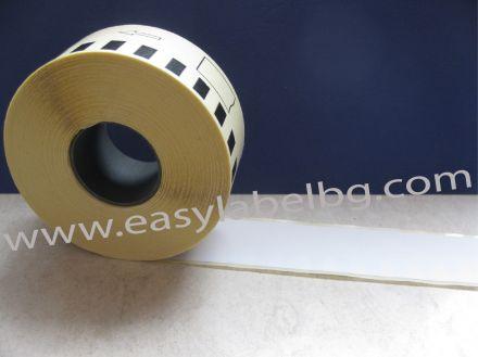Непрекъсната бяла самозалепваща хартиена термо лента, 29mm X 30.48m(съвместими)