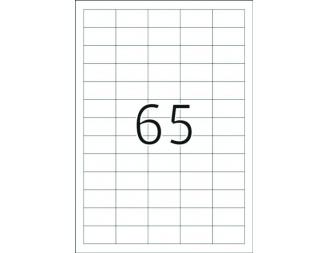 Етикети Herma, 38.1х21.2mm, 100л., (6500бр.)