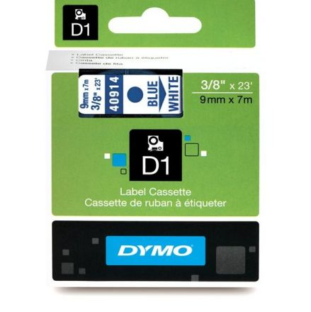 TAPE D1 - Dymo 40919, 9mm X 7m, blue, black inscription