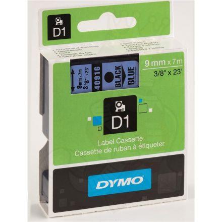 ЛЕНТА D1 за Dymo Label Manager, 9mm X 7m, синя, черен надпис