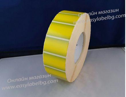Самозалепващи етикети на ролка тип ПРЕЛИВКИ, ЗЕЛЕНО-ЖЪЛТИ, 50mm x 30mm, 4 000бр.