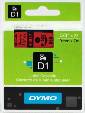 ЛЕНТА D1 за Dymo Label Manager, 9mm X 7m, червена, черен надпис