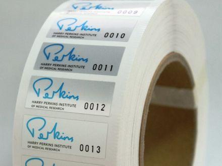 Самозалепващи етикети от 3М фолио, полиестер (PET), 45mm X 59mm