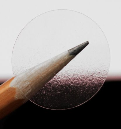 Прозрачни етикети с надпис в черен цвят по ваше задание - Kръгли напечатани стикери с диаметър Ø25mm