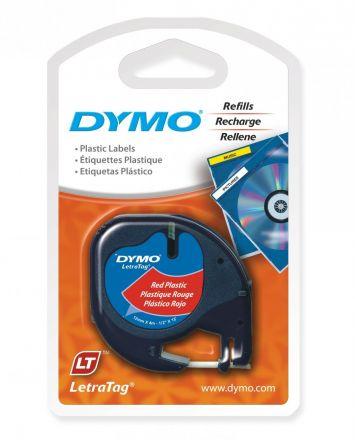 Пластмасова лента DYMO 91203, 12mm x 4m, червена