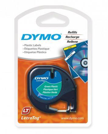 Пластмасова лента DYMO 91204, 12mm X 4m, зелена