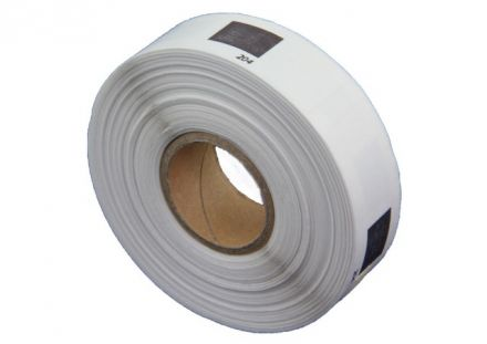 "Brother Compatible DK-11204 Round Paper 1"" label 17mm X 54mm x 1000 (Black on White)"