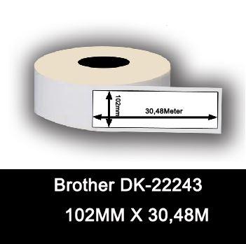 Eтикети BROTHER DK-22243, 102mm X 30.48m