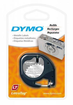 Пластмасова лента DYMO 91208, 12mm X 4m, металик (сребро)