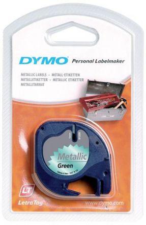Пластмасова лента DYMO 91209, 12mm X 4m, металик (зелено)