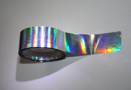 Shimmer labels - самозалепващ се кръгъл стикер от PVC фолио, Ø25mm, 6 000бр