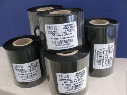 Термотрансферна лента, резин, RESIN, Черна, 65mm X 300