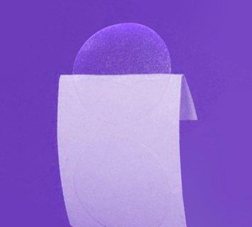 Прозрачен самозалепващ се кръгъл стикер от PVC фолио, Ø33mm, 10 000бр., без марка(репер)