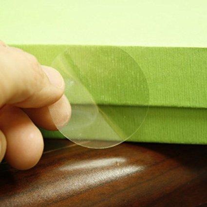 Прозрачен самозалепващ се кръгъл стикер от PVC фолио, Ø33mm, 3 000бр., без марка(репер)