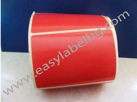Самозалепващи етикети на ролка, пастелно червено, 100mm x 150mm /1/ 500,  Ø40mm