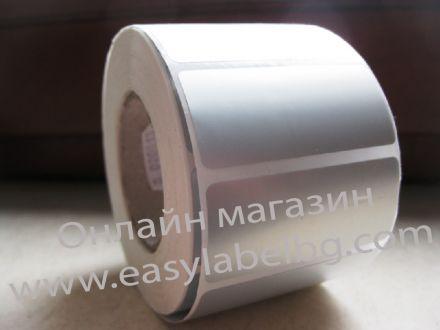 Самозалепващи етикети, 3М фолио, полиестер (PET), 35mm x 26mm /1/ 3 000бр., Ø76mm