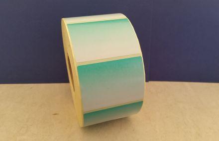 Самозалепващи етикети на ролка преливащи цветове от зелено-към бяло, 58mm x 43mm /1/ 1 500бр., ф40mm