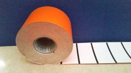 Етикети за стелажи на ролка, картон, 38mm х 70mm, оранжеви, 900бр.
